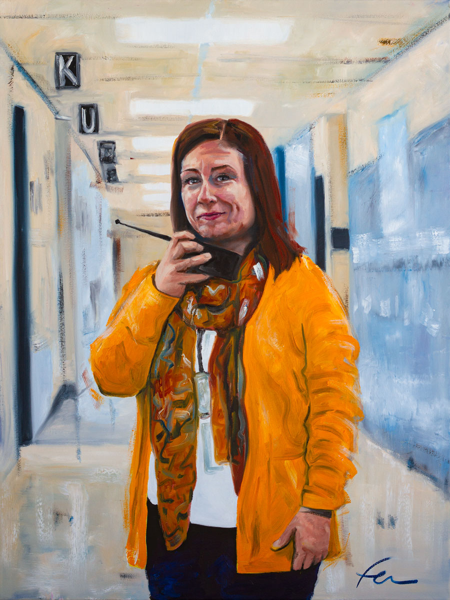 Portrait of Maite Porter | Original Oil Painting | 30x40