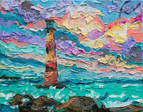 Morris Island Lighthouse | Original Oil | 14x11