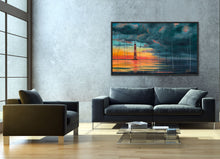 "Load image into Gallery viewer, Storm at Morris Island | Original Oil Painting | 60x36""-original art-fercaggiano"