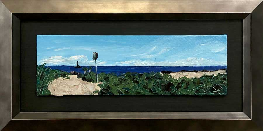 Morris Island Panorama | Original Oil | 9x3