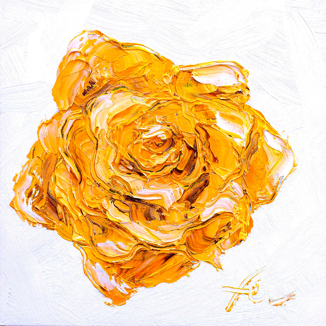 Yellow Rose | Original Oil | 8x8