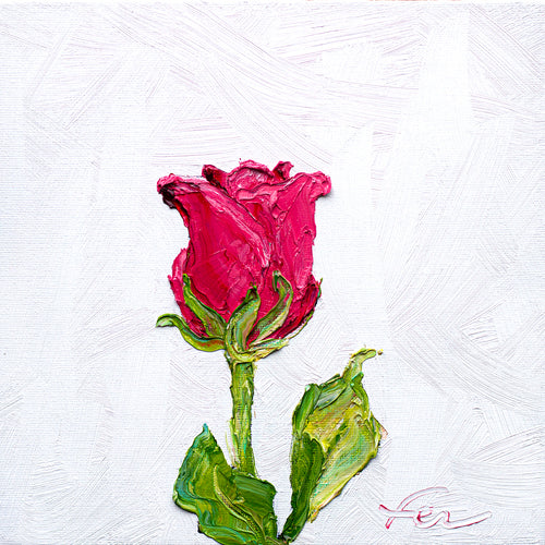 Pink Rose | Original Oil | 8x8