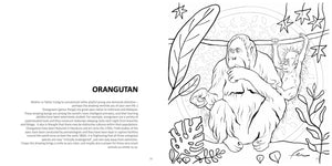 "Endangered Species Coloring Book 8.5 x 8.5""-book-fercaggiano"