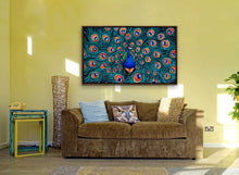 "Load image into Gallery viewer, Peacock | Original Oil Painting | 60x36""-original art-fercaggiano"