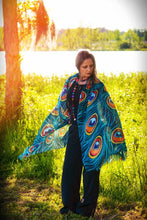 Load image into Gallery viewer, Peacock Modal Shawl-scarves and shawls-fercaggiano
