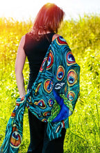 Load image into Gallery viewer, Peacock Modal Scarves-scarves and shawls-fercaggiano