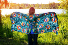 Load image into Gallery viewer, Peacock Silk Scarves-scarves and shawls-fercaggiano