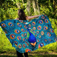 Load image into Gallery viewer, Peacock Silk Shawl-scarves and shawls-fercaggiano