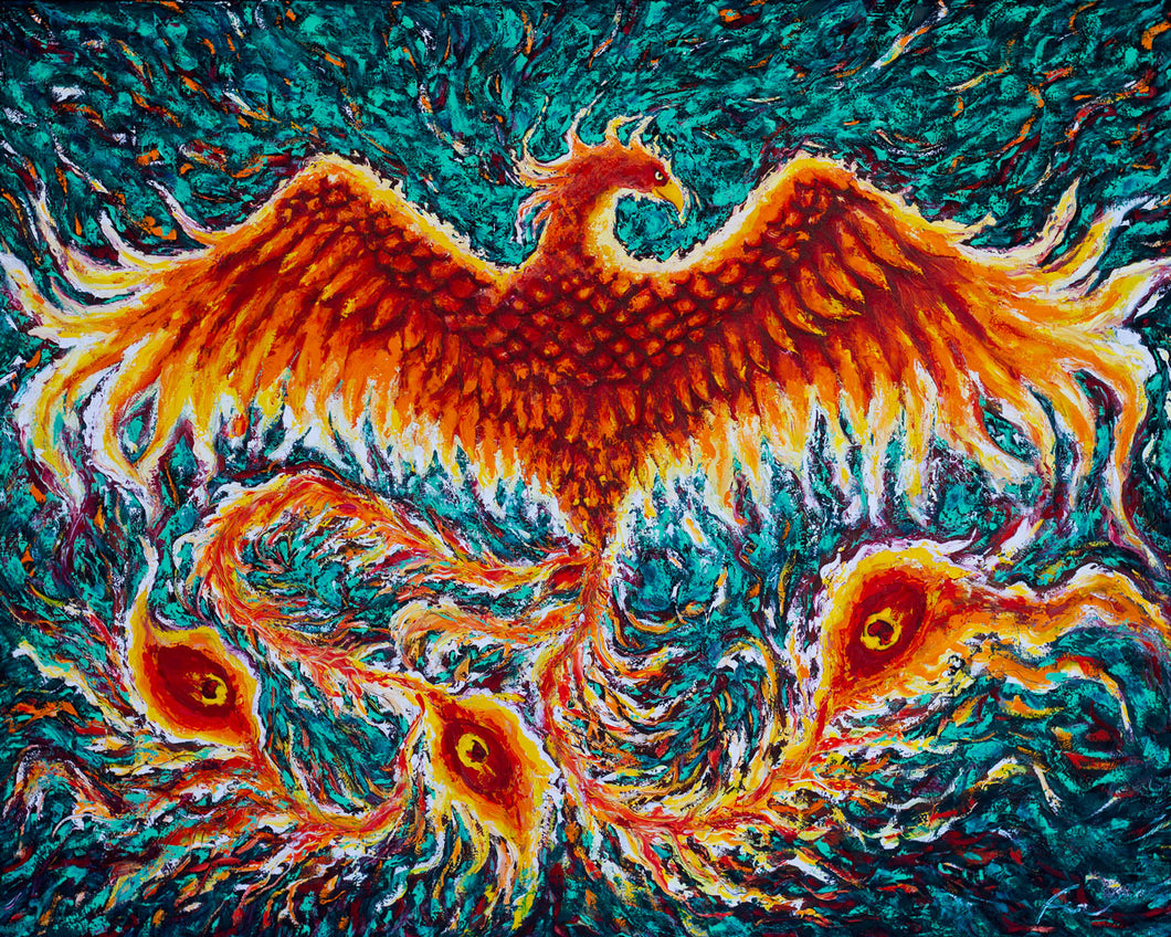 Phoenix Rise | Original Oil Painting | 60x48
