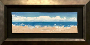 "Sand And Sky | Original Oil | 9x3""-original art-fercaggiano"