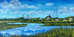 "Shem Creek Park | Original Oil | 16x8""-original art-fercaggiano"