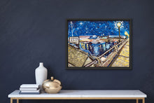 "Load image into Gallery viewer, Shem Creek at Night | AWARDED Original Oil Painting | 24x18""-original art-fercaggiano"