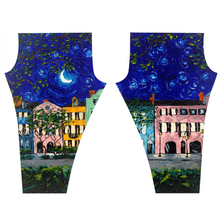 Load image into Gallery viewer, Rainbow Row At Night Leggings-leggings-fercaggiano