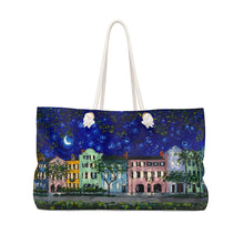 Load image into Gallery viewer, Rainbow Row at Night Weekender Bag-Bags-fercaggiano