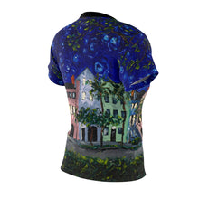 Load image into Gallery viewer, Rainbow Row at Night Women's AOP Cut & Sew Tee-top-fercaggiano