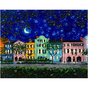 Rainbow Row At Night Puzzles-puzzle-fercaggiano