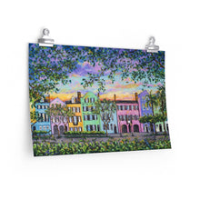 Load image into Gallery viewer, Rainbow Row, Rainbow Sky Print On Paper-Poster-fercaggiano