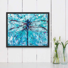 "Load image into Gallery viewer, Dragonfly | Original Oil Painting | 20x16""-original art-fercaggiano"
