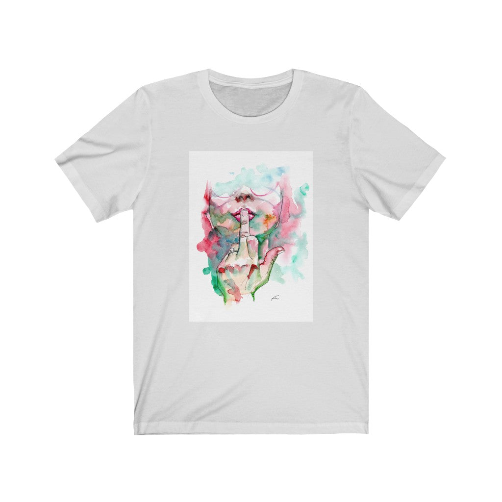 Like A Girl, Dare To Dream Watercolor Unisex Jersey Short Sleeve Tee-T-Shirt-fercaggiano