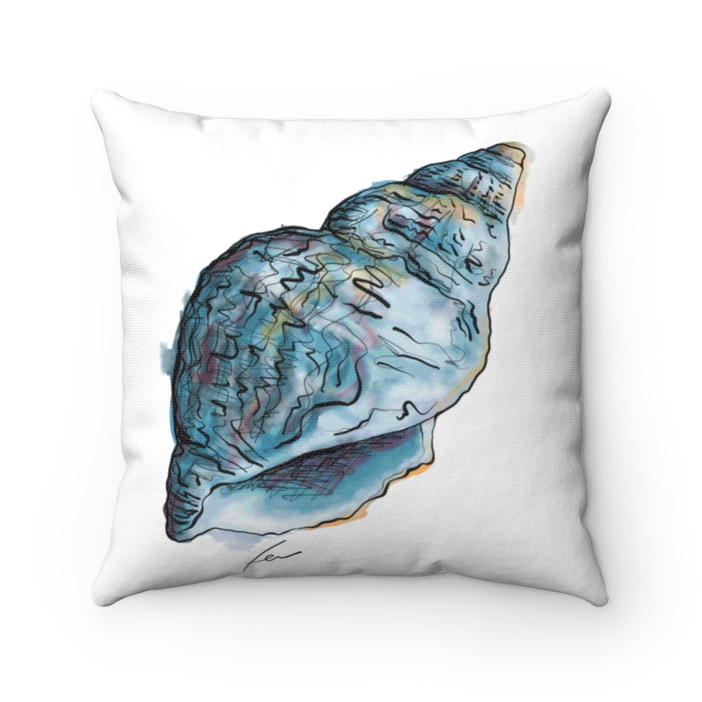 Shell Spun Polyester Square Pillow-pillows-fercaggiano