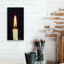 "Load image into Gallery viewer, Candle Light | Original Oil | 6x12""-original art-fercaggiano"