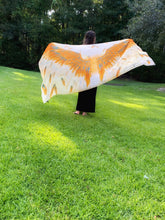 Load image into Gallery viewer, Orange Fall Wings Modal Shawl (Limited Edition)-scarves and shawls-fercaggiano