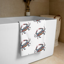 Load image into Gallery viewer, Blue Crab Towel-towel-fercaggiano