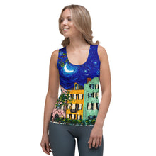 Load image into Gallery viewer, Rainbow Row at Night Tank Top-top-fercaggiano