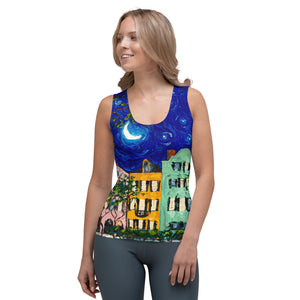 Rainbow Row at Night Tank Top-top-fercaggiano