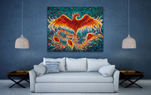 "Load image into Gallery viewer, Phoenix Rise | Original Oil Painting | 60x48""-original art-fercaggiano"