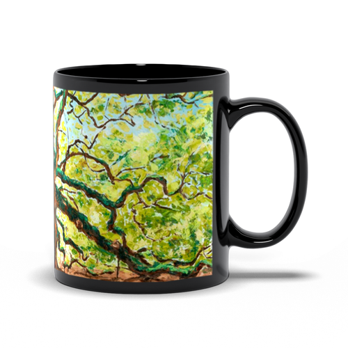 Angel Oak Tree Art Coffee Mugs-mug-fercaggiano