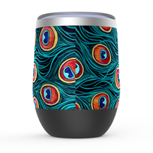 Load image into Gallery viewer, Peacock Stemless Wine Tumblers-tumbler-fercaggiano