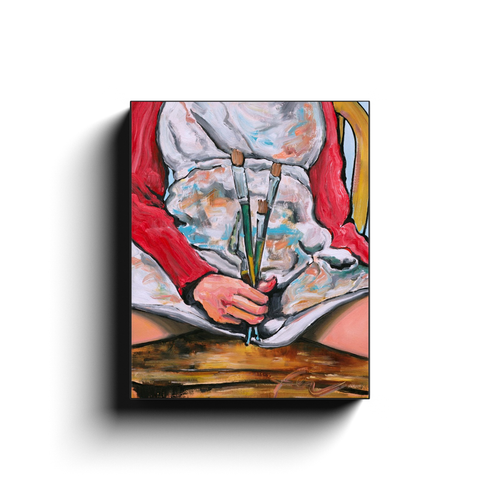 Paint Like a Girl | Feminist Art Print On Canvas Wrap-canvas print-fercaggiano