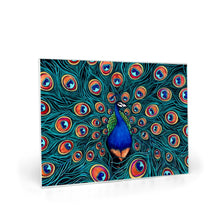 Load image into Gallery viewer, Peacock Glass Cutting Boards-cutting board-fercaggiano