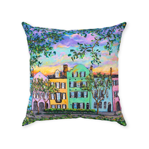 Rainbow Row Throw Pillows-pillows-fercaggiano