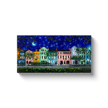 Load image into Gallery viewer, Rainbow Row at Night Starry Night Canvas Print-canvas print-fercaggiano