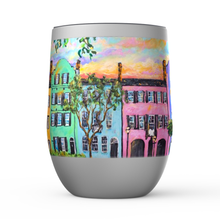 Load image into Gallery viewer, Rainbow Row Stemless Wine Tumblers-tumbler-fercaggiano