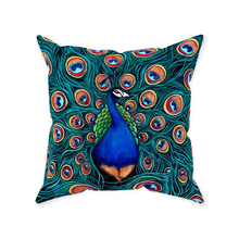 Load image into Gallery viewer, Peacock Throw Pillows-pillows-fercaggiano