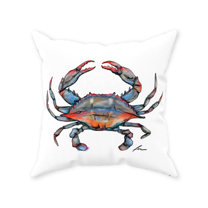 "Blue Crab Throw Pillows 20x20""-pillows-fercaggiano"