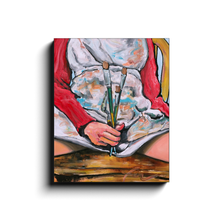 Load image into Gallery viewer, Paint Like a Girl | Feminist Art Print On Canvas Wrap-canvas print-fercaggiano
