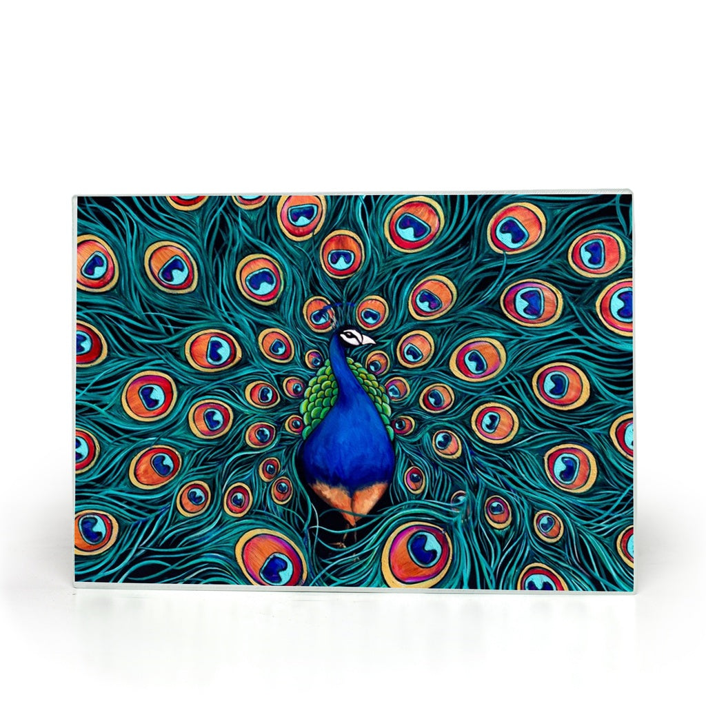 Peacock Glass Cutting Boards-cutting board-fercaggiano