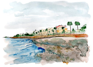 The Battery Original Watercolor 12x9-fercaggiano