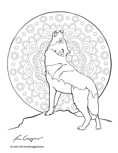Coloring Pages - Animals Set-Coloring-fercaggiano