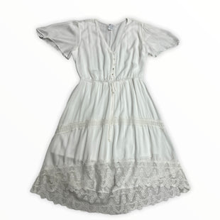 Primary Photo - BRAND: MAURICES STYLE: DRESS LONG SHORT SLEEVE COLOR: WHITE SIZE: L OTHER INFO: NEW! SKU: 190-190106-57146