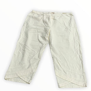 Primary Photo - BRAND: SOFT SURROUNDINGS STYLE: PANTS COLOR: CREAM SIZE: 24 SKU: 190-190125-39484
