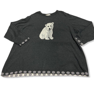 Primary Photo - BRAND: CJ BANKS STYLE: TOP LONG SLEEVE COLOR: CHARCOAL SIZE: 3X SKU: 190-190140-13860