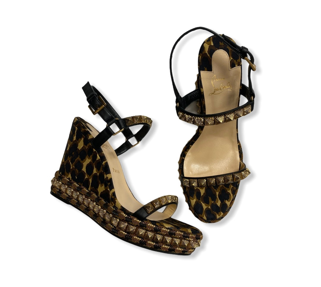 Primary Photo - BRAND: CHRISTIAN LOUBOUTIN <BR>STYLE: SANDALS LOW <BR>COLOR: ANIMAL PRINT <BR>SIZE: 11 <BR>SKU: 190-190106-52920