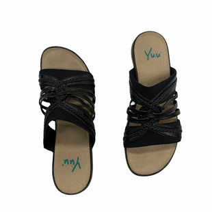 Primary Photo - BRAND: YUU COLLECTION STYLE: SANDALS FLAT COLOR: BLACK SIZE: 9.5 SKU: 190-19060-47381