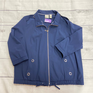 Primary Photo - BRAND: CHICOS STYLE: JACKET OUTDOOR COLOR: NAVY SIZE: L SKU: 190-190140-16915
