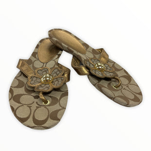 Primary Photo - BRAND: COACH STYLE: FLIP FLOPS COLOR: BROWN SIZE: 8 SKU: 190-19060-47065